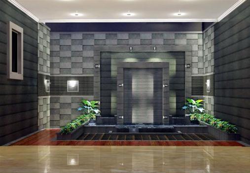 Penggunaan batu andesit untuk interior dan exteriorrumah