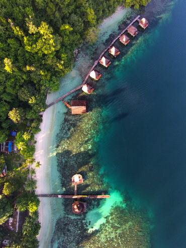 Exotic Ora Beach Resort, Pulau Seram, Maluku.