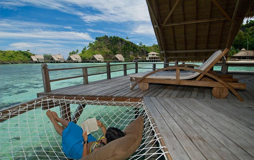 Misool Eco Resort, Raja Ampat - Image via http://www.misoolecoresort.com/