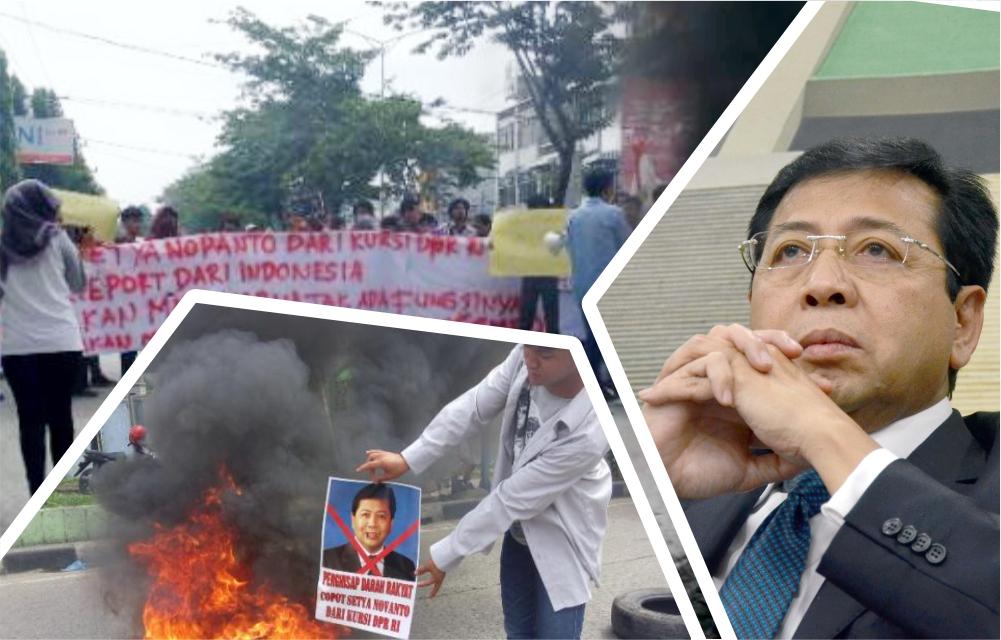 Desak Novanto Mundur - Mahasiswa Medan Dipuji Netizen