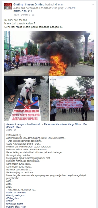 Desak Novanto Dipecat - Mahasiswa Meda