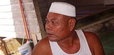 H. Ndin salah satu tokoh masyarakat yang ikut dalam tim perjuangan menuntut Indocement