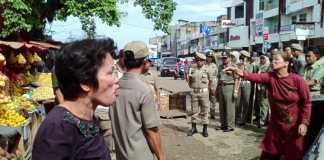 Penertiban pedagang Pasar Panorama Kota Bengkulu