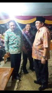 Bupati Bengkulu Utara,Ir Mi'an dan Gubernur Provinsi Bengkulu,Riduan Mukti lagi di atas pangung acara pestival seni dan Budaya di Pulau Enggano