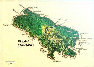 PETA Pulau Enggano  Bengkulu Utara