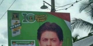 Efendi - Caleg PPP Pasang Baliho Gambar Shahrukh Khan Untuk Menarik Perhatian