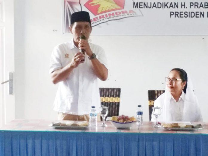 Ketua DPC Partai Gerindra Lebong, Edi Tiger