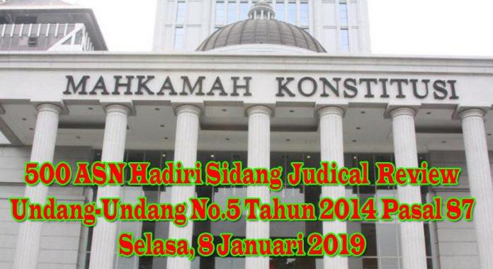 Sidang Judical Review UU No 5 2014