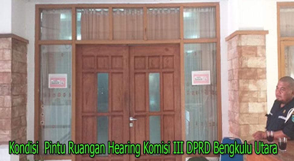 Hearing Komisi III DPRD Bengkulu Utara Tertutup, Wartawan Dilarang Meliput