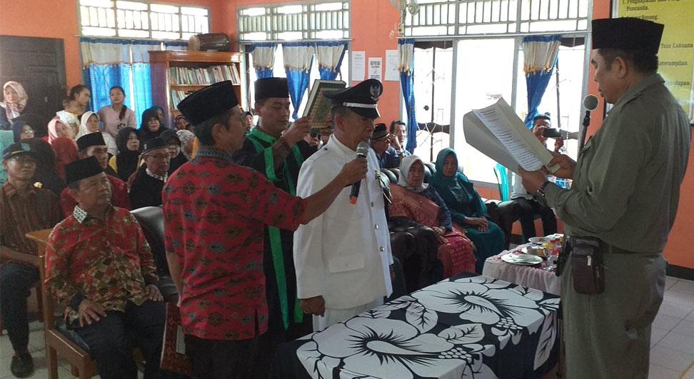 Foto Pelantikan PJS Kades Lubuk Sahung, garudacitizen.com