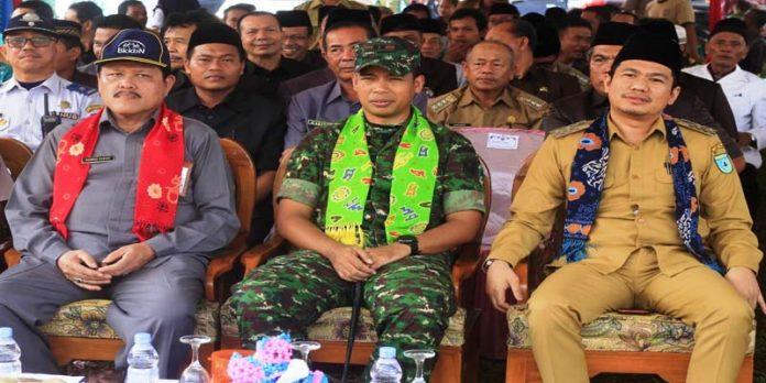 Wabup Bengkulu Utara Buka Launching TNI Manunggal KB Kesehatan