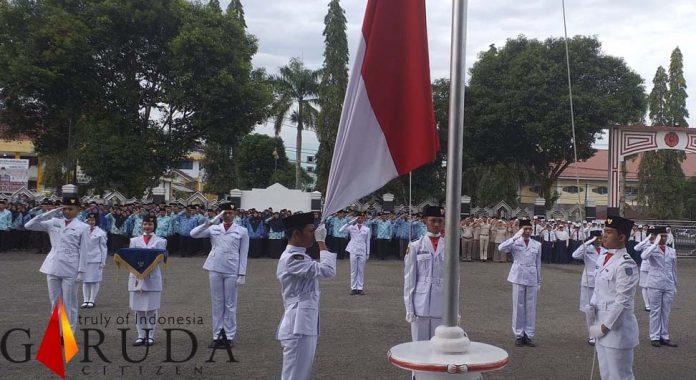 Pemkab Bengkulu Utara Pimpin Upacara Hari Lahir Pancasila