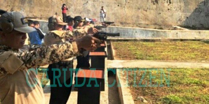 Kodim, Polres dan Pemkab Bengkulu Utara Latihan Menembak Bersama