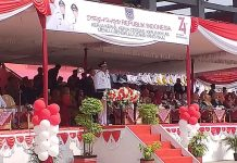 Bupati Bengkulu Utara Pimpin Upacara HUT RI ke-74