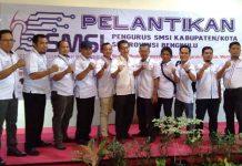 Pengurus SMSI Kabupaten/Kota se-Provinsi Bengkulu Resmi Dilantik