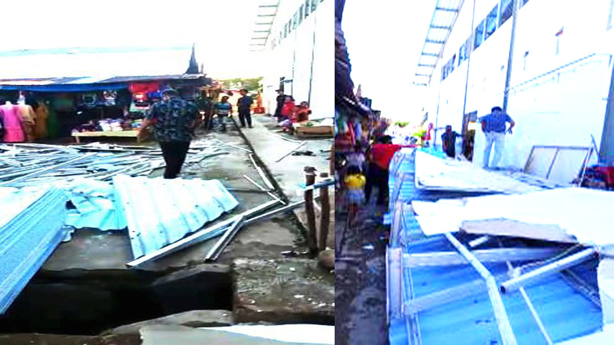 Diduga Konstruksi Tak Beres, Tanpa Sebab Gedung Pasar KTM Ambruk